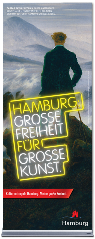 "Roll Up ""Hamburg: Grosse Freiheit für grosse Kunst"" - Motiv: Hamburger Kunsthalle"